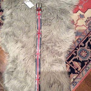 Accessories - NWT British Flag Leather Belt